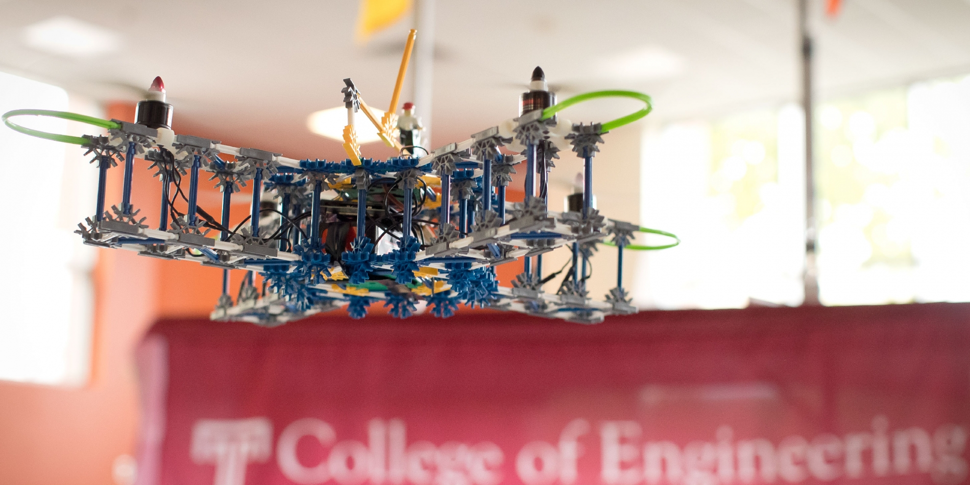 Engineering student at Temple University built a drone made out of toys