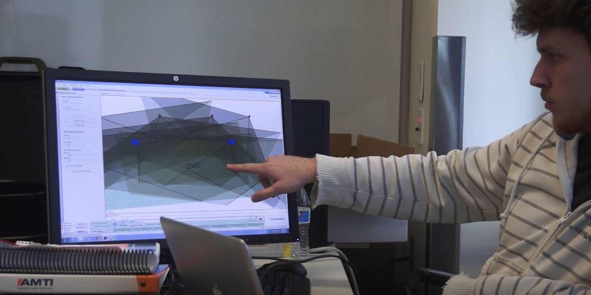 Engineering student at Temple University working on computer model design