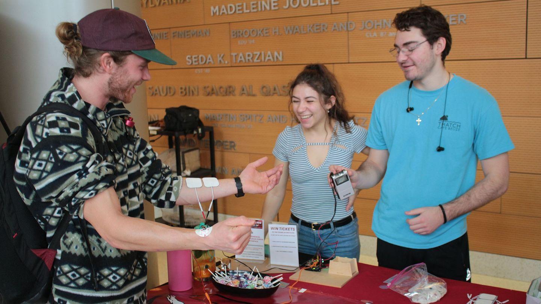 students demonstrating bioengineering
