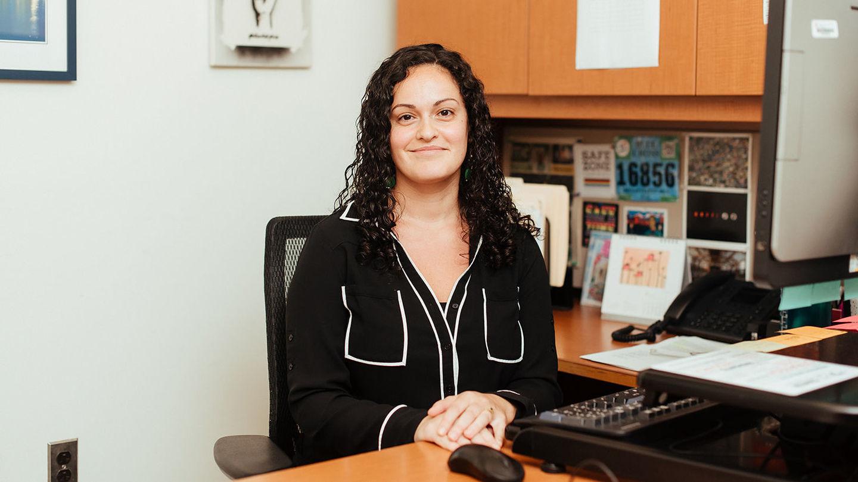 female advisor in office