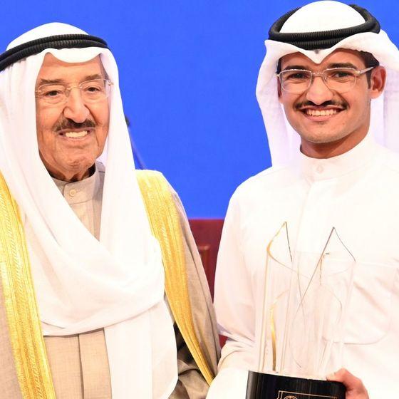student meeting Amir of Kuwait