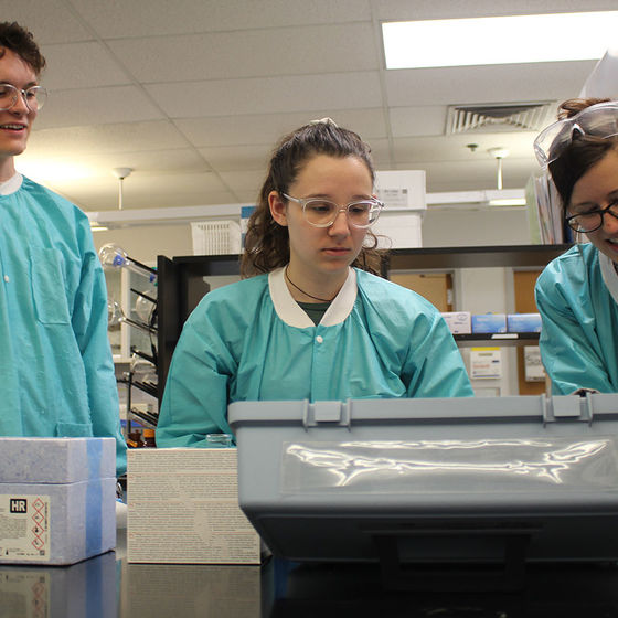students in lab