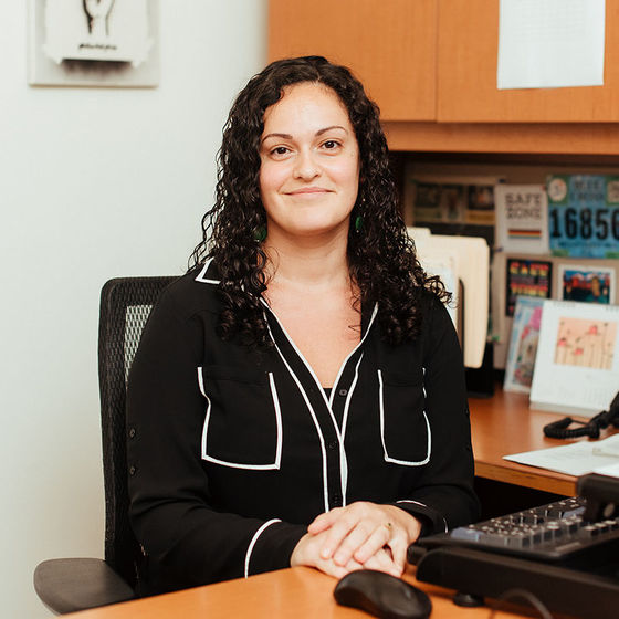 female advisor in office
