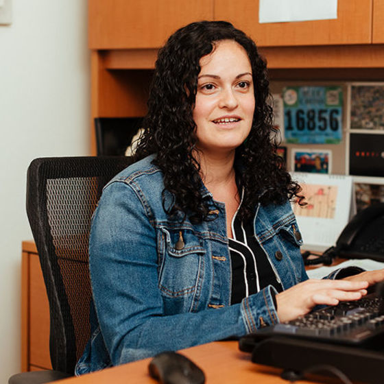 Leslie Silva in her office